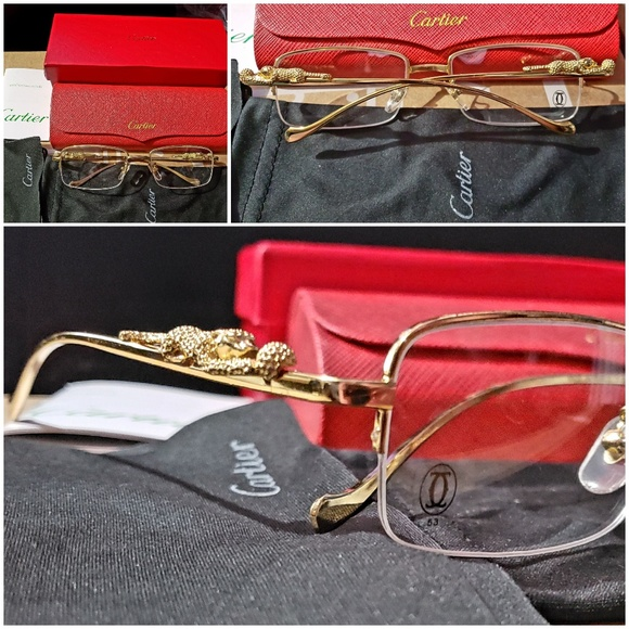 18a13eb55b98c Cartier Other - Gold Panther frame Cartier glasses.
